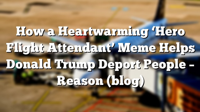 How a Heartwarming 'Hero Flight Attendant' Meme Helps Donald Trump Deport People – Reason (blog)
